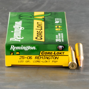20rds - 25-06 Remington Core-Lokt 120gr. PSP Ammo