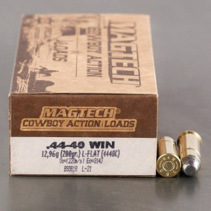 50rds - 44-40 Magtech 200gr. Lead Flat Nose Cowboy Ammo