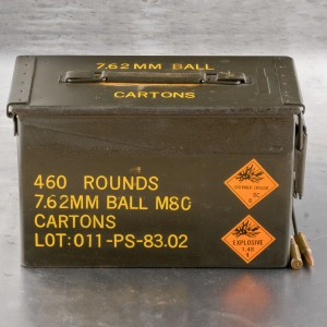 460rds - 7.62x51mm PMC Surplus Ammo Can 146gr. FMJ Ammo