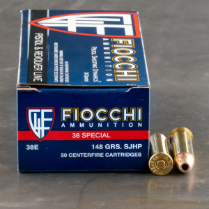 50rds - 38 Special Fiocchi 148gr Semi-Jacketed Hollow Point