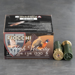 "250rds - 12 Gauge Fiocchi Optima Specific HV 2 3/4"" 1 1/4oz. #8 Shot Ammo"