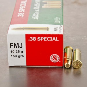 50rds - 38 Special Sellier & Bellot 158gr. FMJ Ammo