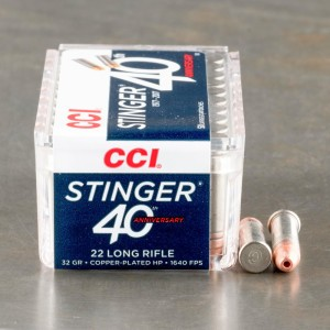 500rds - 22LR CCI Stinger 32gr. Hyper Velocity Hollow Point Ammo