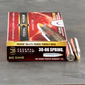 20rds - 30-06 Federal Vital-Shok 180gr. Trophy Bonded Tip Ammo