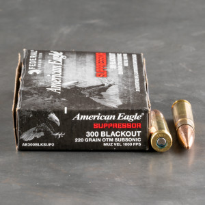 500rds – 300 AAC Blackout Federal American Eagle 220gr. OTM Subsonic Ammo