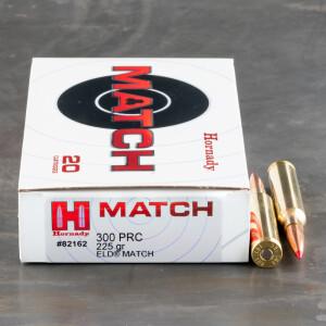 20rds – 300 PRC Hornady 225gr. ELD Match Ammo