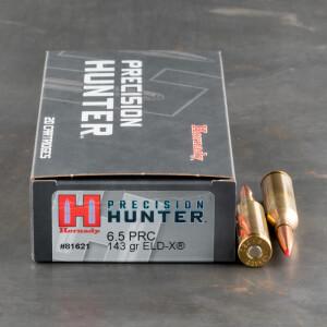 20rds – 6.5 PRC Hornady Precision Hunter 143gr. ELD-X Ammo