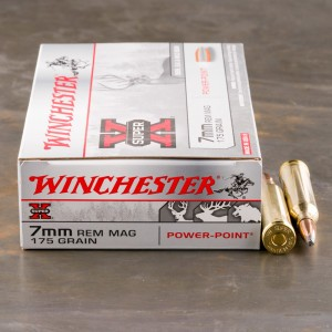 20rds - 7mm Rem. Mag. Winchester Super-X 175gr. Power Point Ammo