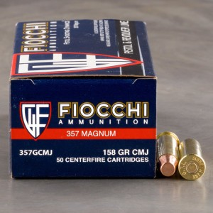 1000rds – 357 Magnum Fiocchi Pistol Shooting Dynamics 158gr. CMJ-FP Ammo
