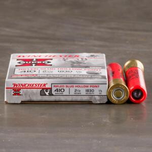 """5rds - .410 Gauge Winchester 2 1/2"""" 1/5 oz. Rifled Slug Ammo"""
