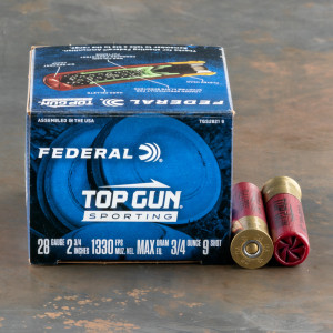 "25rds – 28 Gauge Federal Top Gun Sporting 2-3/4"" 3/4oz. #9 Shot Ammo"