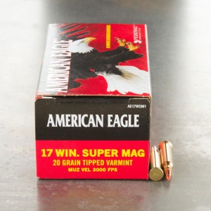 17 Winchester Super Magnum Ammo for Sale