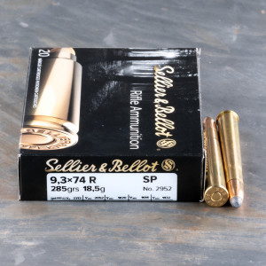 20 Rounds - 9.3x74mm Rimmed Sellier & Bellot 285gr. SP Ammo