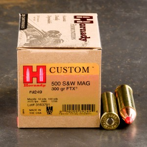 20rds - 500 S&W Hornady Evolution 300gr. SST Ammo