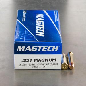 50rds – 357 Magnum Magtech 158gr. FMJ Flat Ammo
