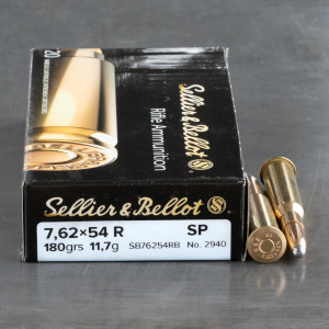 20rds – 7.62x54R Sellier & Bellot 180gr. SP Ammo
