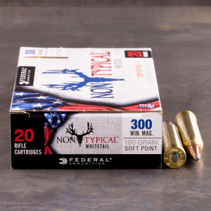 20rds - 300 Win. Mag Federal Non-Typical Whitetail 180gr. Non-Typical SP Ammo