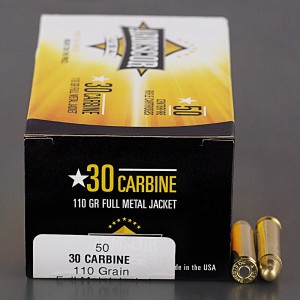 50rds – 30 Carbine Armscor USA 110gr. FMJ Ammo