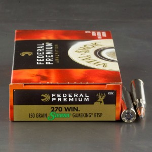 20rds – 270 Federal Vital-Shok 150gr. GameKing BTSP Ammo