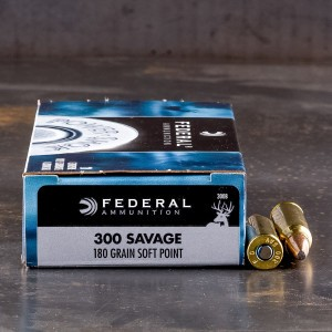 20rds – 300 Savage Federal Power-Shok 180gr. JSP Ammo