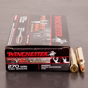 20rds - 270 Winchester 130gr. Power Max Bonded HP Ammo