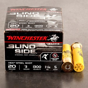 "25rds – 20 Gauge Winchester Blind Side 3"" 1-1/16oz. #5 Steel Shot Ammo"
