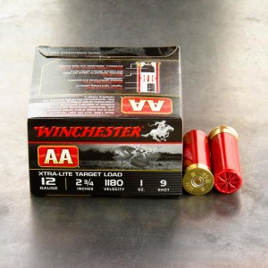 "25rds - 12 Gauge Winchester AA Light Target 1 Ounce 2 3/4"" #9 Shot Ammo"