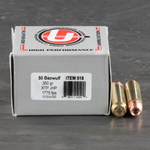 20rds – 50 Beowulf Underwood 350gr. XTP Ammo
