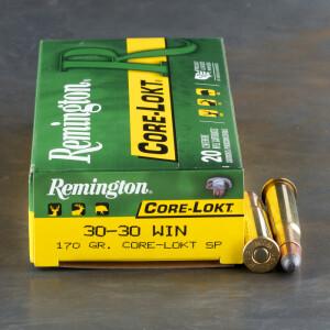20rds - 30-30 Remington 170gr. Core-Lokt Soft Point Ammo