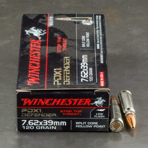 20rds - 7.62x39 Winchester PDX1 Defender 120gr. Split Core HP Ammo