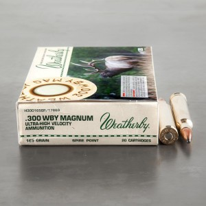 20rds - 300 Weatherby Mag. 165gr. Spire Point Ammo