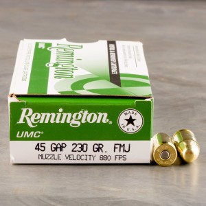 50rds - 45 GAP Remington UMC 230gr. FMJ Ammo