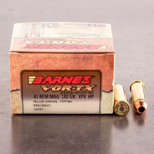 20rds – 41 Mag Barnes VOR-TX 180gr. XPB Ammo