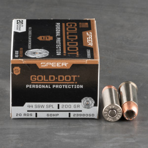 20rds – 44 Special Speer Gold Dot 200gr. JHP Ammo