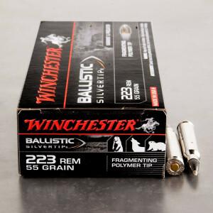 20rds - 223 Winchester 55gr. Ballistic Silvertip Ammo