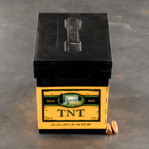 "750pcs - 25 Cal .257"" Dia Speer TNT 87gr. HP Bullets"