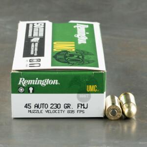 500rds - 45 ACP Remington UMC 230gr. FMJ Ammo