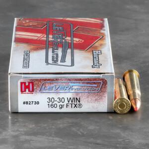 200rds – 30-30 Hornady LEVERevolution 160gr. FTX Ammo