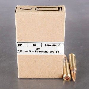 240rds - 308 Win Hirtenberger Surplus 146gr. FMJ Ammo