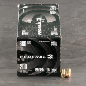 800rds – 380 Auto Federal Black Pack 95gr. FMJ Ammo