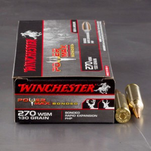 20rds - 270 WSM Winchester 130gr. Power Max Bonded Protected Hollow Point Ammo