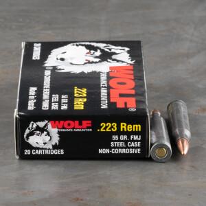 1000rds – 223 Rem Wolf 55gr. FMJ Ammo
