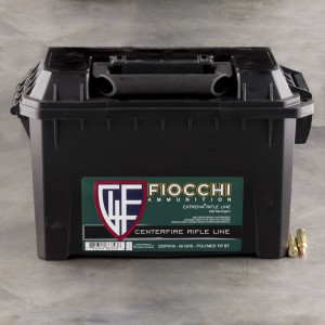 200rds - 223 Fiocchi 50gr. V-Max Polymer Tip Ammo (In Ammo Can)