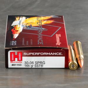 20rds – 30-06 Hornady Superformance 165gr. SST Ammo