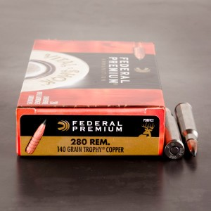 20rds - 280 Rem. Federal Vital-Shok 140gr. Trophy Copper Ammo