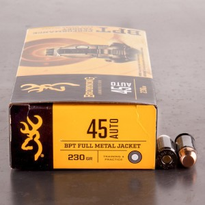 50rds – 45 ACP Browning BPT 230gr. FMJ Ammo