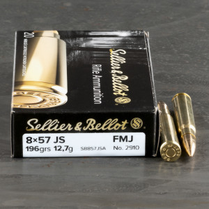 20rds - 8mm Mauser Sellier & Bellot 196gr. FMJ Ammo
