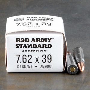 1000rds – 7.62x39 Red Army Standard 122gr. FMJ Ammo