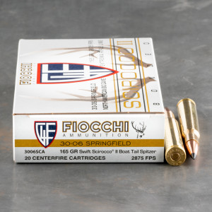 20rds – 30-06 Fiocchi Extrema 165gr. Polymer Tipped Spitzer Ammo