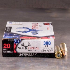 20rds - 308 Federal Non-Typical Whitetail 150gr. Non-Typical SP Ammo